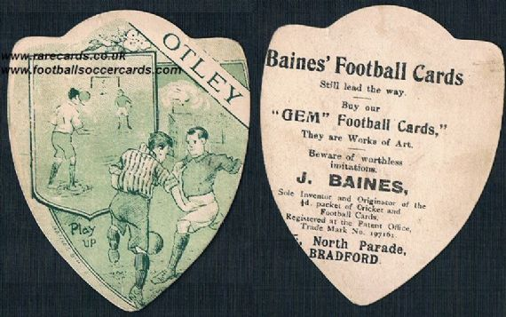 1905 Leeds Otley FC card by Baines